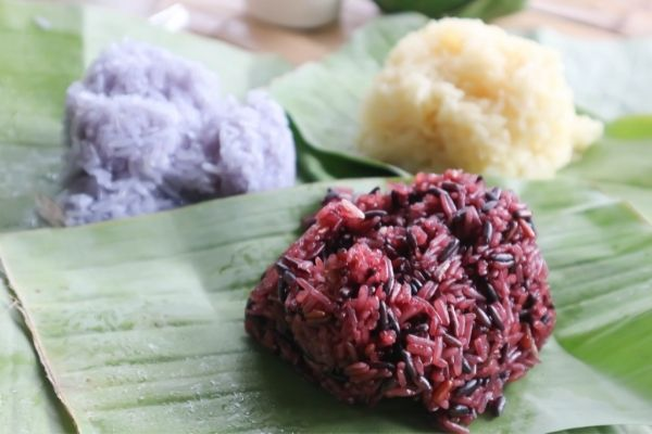 different kinds of sticky rice