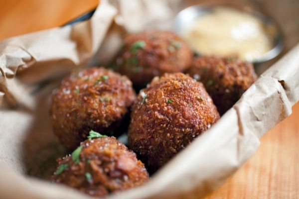 reheat leftover hush puppies using an oven