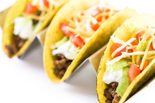 reheated taco shells with filling